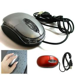 1 Wired Basic Optical Mouse USB Scroll Wheel Mice Laptop Com