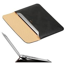 New MacBook 12 inch Case Sleeve with Stand, OMOTON Wallet Sl