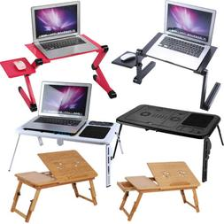 Adjustable Portable Folding Table Bed Desk Stand For Compute