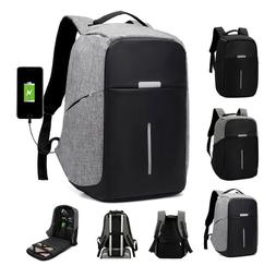 """Anti-Theft Waterproof Backpack External USB Charge Port 15"""""""