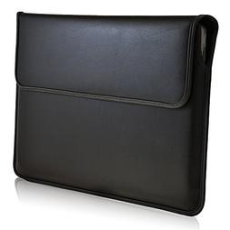 Turtleback Black Leather 13.3in Laptop Sleeve Bag Cover Case