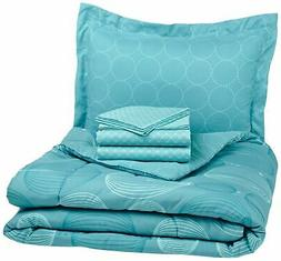 Brand New AmazonBasics 5-Piece Bed-In-A-Bag, Twin/Twin XL, I