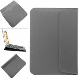 Gray Leather Laptop Protective Sleeve Bag Case Skin For 13 i