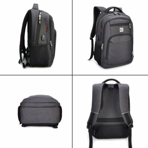 MARCELLO Laptop Backpack Travel College USB Charging
