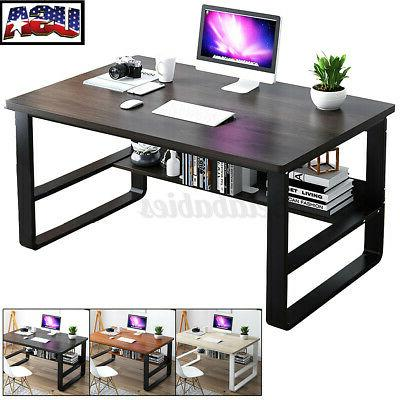 wood computer table study desk home office