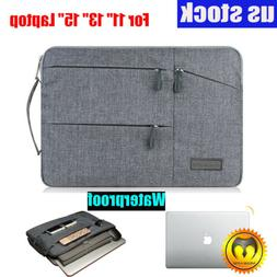 """Slim Waterproof Sleeve Case Carry Cover Bag for 11/13/15"""" Ma"""