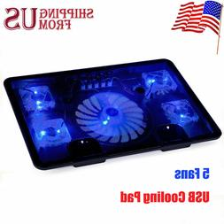 Laptop Notebook Cooling Fan Cooler Pad Computer Stand Chill