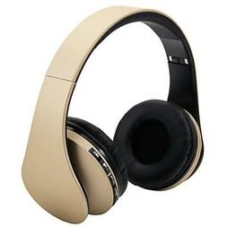 Wireless Headphones Foldable Stereo Super Bass Headset Over
