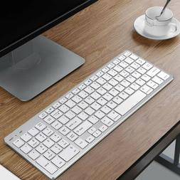 Wireless Bluetooth Keyboard Rechargeable with Number Pad Lap